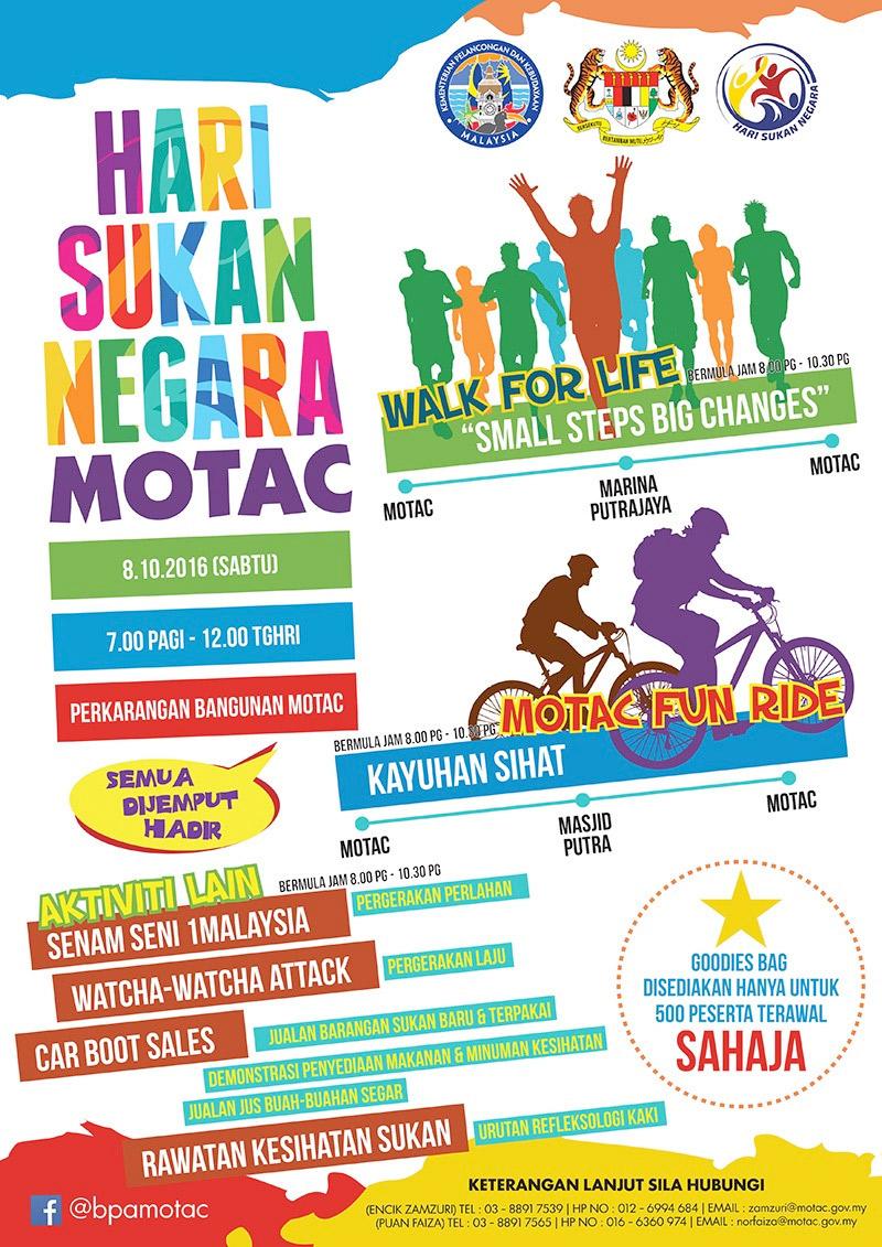 Hari Sukan Negara Motac 2016 Hsnmotac16 Portal Rasmi Kementerian Pelancongan Seni Dan Budaya Malaysia