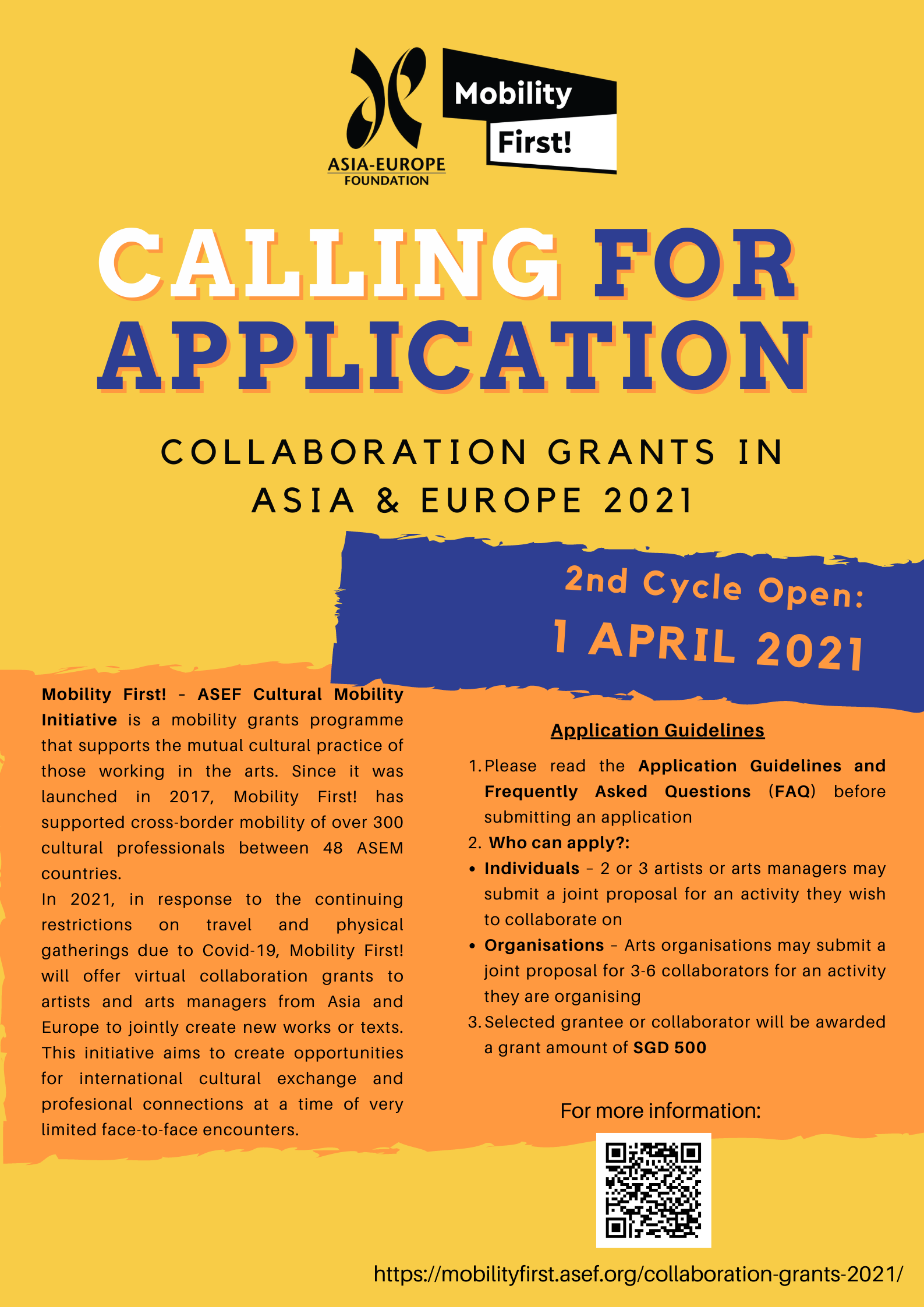 ASEF: Mobility First! Collaboration Grants 2021 - Cycle 2